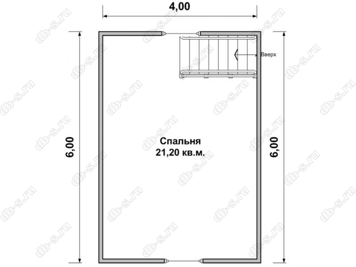 Дом 6 на 7.5 план мансардного этажа