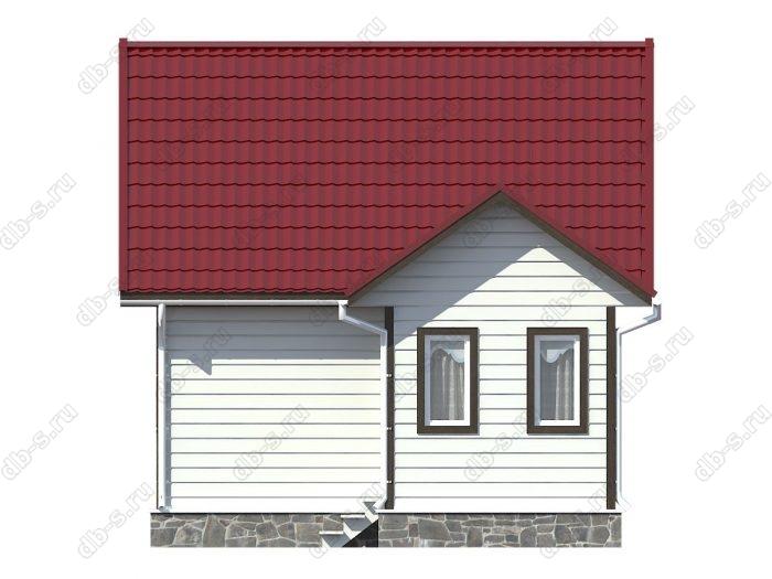 Каркасный дом 6х7.5 двухскатная крыша