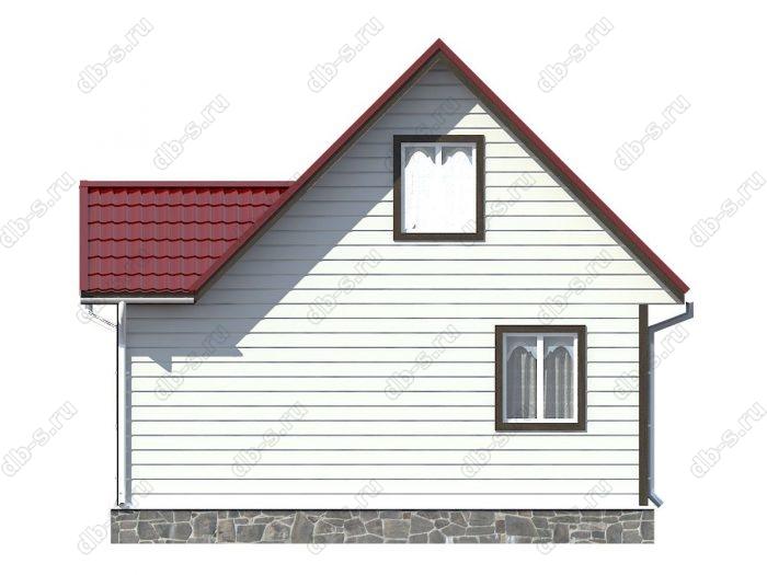 Проект каркасного дома площадью 65кв.м.