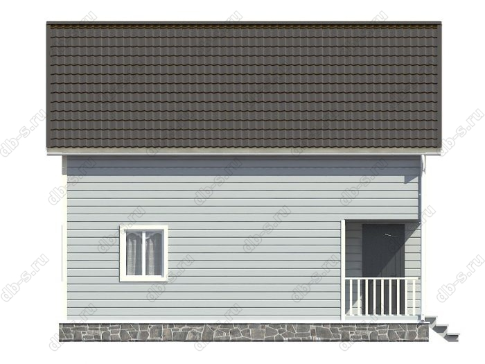 Каркасный дом 8х9 терраса (веранда) балкон двухскатная крыша