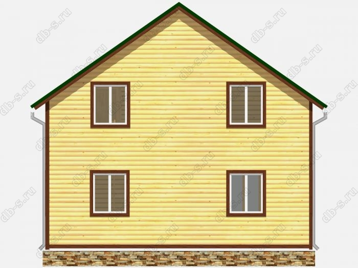 Проект дома из бруса площадью 131кв.м.