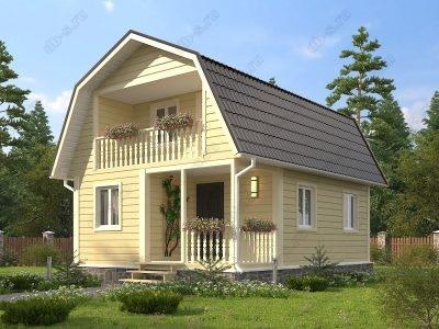 Каркасный дом 6х8 проект К82