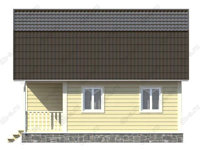 Каркасный дом 6х8 терраса (веранда) балкон ломаная крыша вальмовая крыша