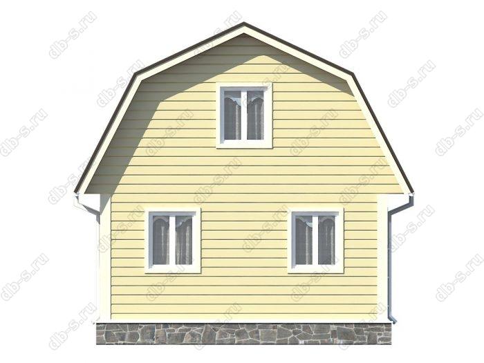 Проект каркасного дома площадью 73кв.м.