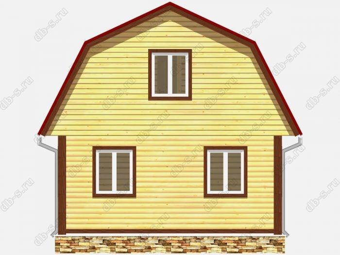 Проект дома из бруса площадью 73кв.м.