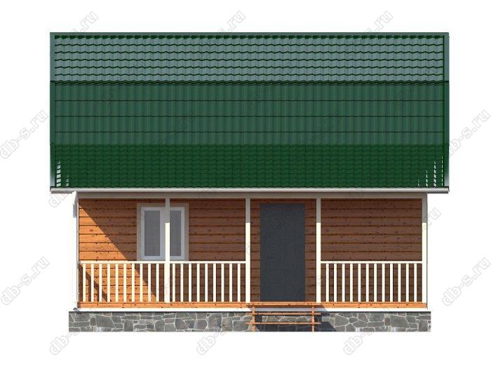 Каркасный дом 8х9 терраса (веранда) ломаная крыша вальмовая крыша