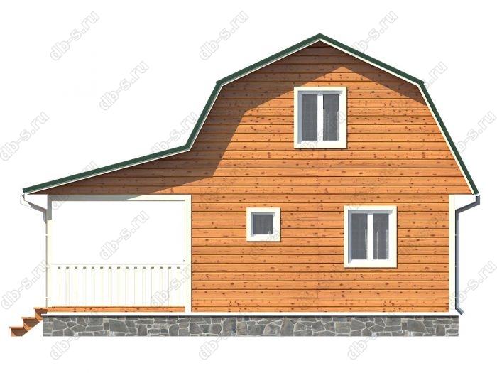 Проект каркасного дома площадью 84кв.м.