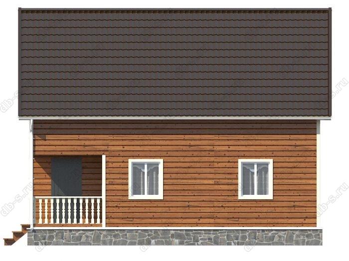 Каркасный дом 8х10 терраса (веранда) балкон двухскатная крыша