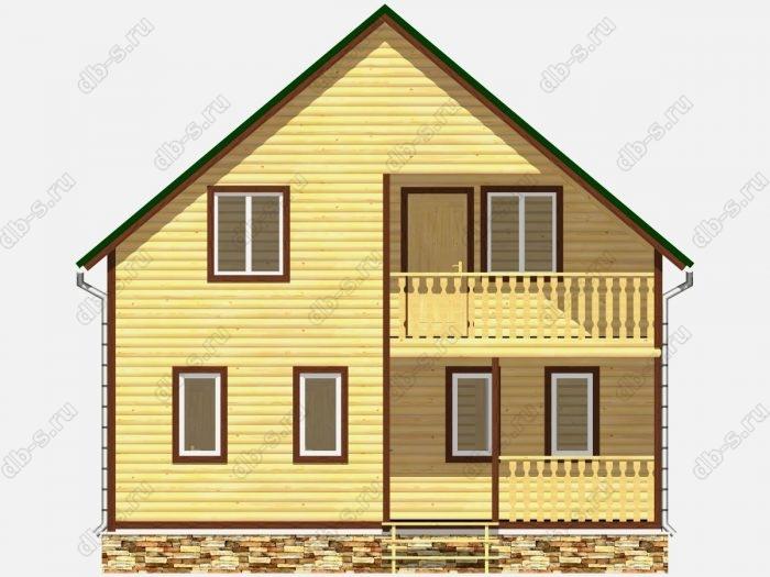 Фото деревянного дома из профилированного бруса под ключ 8 на 10