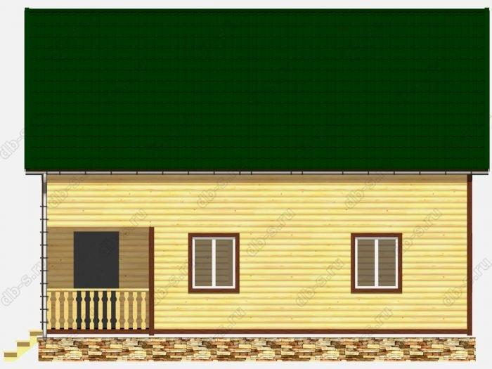 Дом из бруса 8х10 терраса (веранда) балкон двухскатная крыша