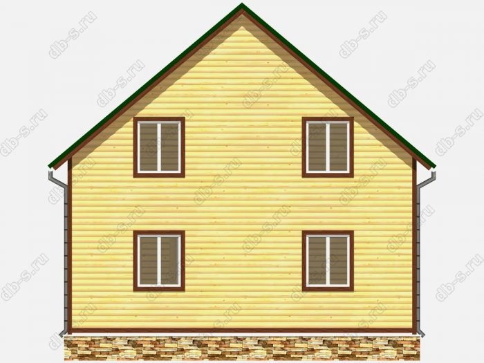 Проект дома из бруса площадью 141кв.м.