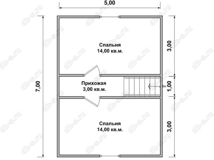Дом 6 на 7 план мансардного этажа