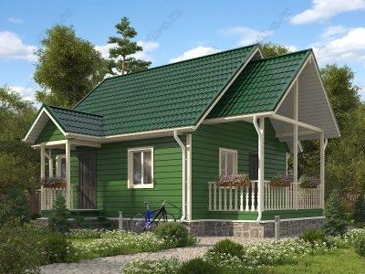 Каркасный дом 6х7 проект К85