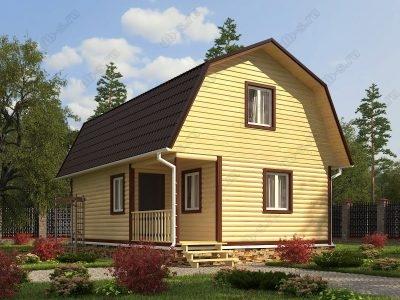 Дом из бруса 6х9 проект Д86