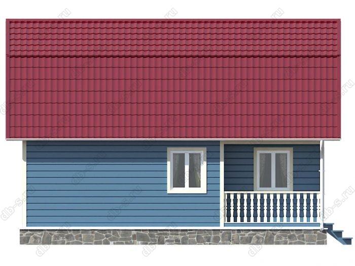 Каркасный дом 6х9 терраса (веранда) двухскатная крыша