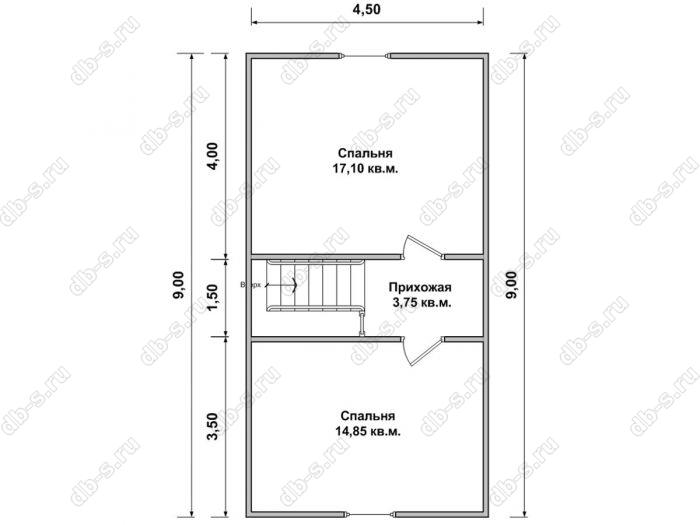 Дом 6 на 9 план мансардного этажа