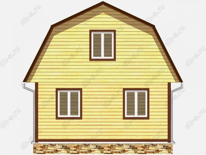Проект дома из бруса площадью 90кв.м.