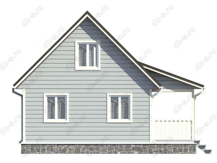 Проект каркасного дома площадью 90кв.м.