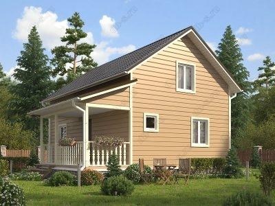 Каркасный дом 6х9 проект К88