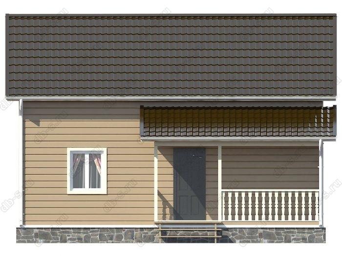 Каркасный дом 6х9 двухскатная крыша