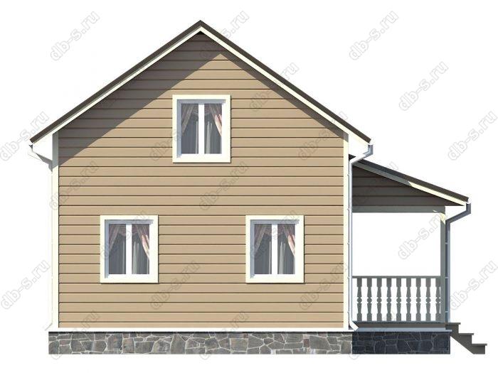 Проект каркасного дома площадью 108кв.м.