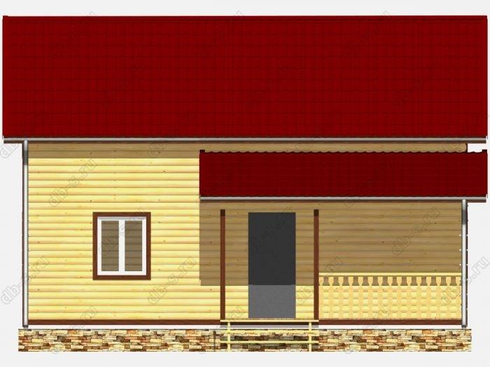 Дом из бруса 6х9 двухскатная крыша