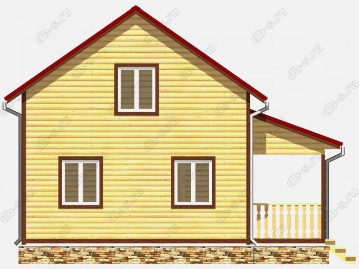 Проект дома из бруса площадью 108кв.м.