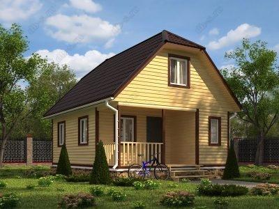 Дом из бруса 6х8 проект Д89