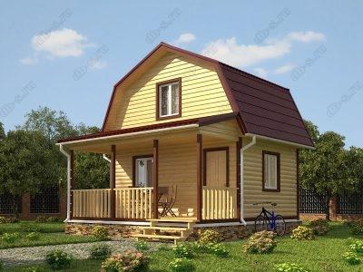 Дом из бруса 6х6 проект Д9