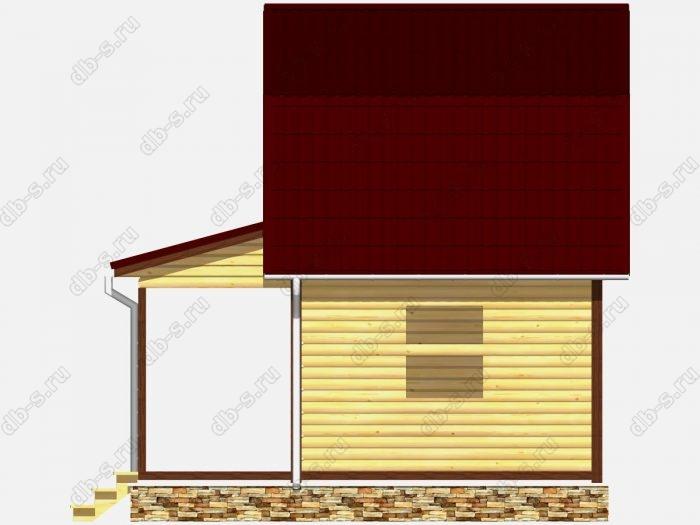 Сруб дома 6х6 терраса (веранда) ломаная крыша вальмовая крыша