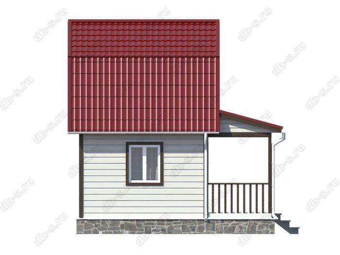 Каркасный дом 6х6 терраса (веранда) ломаная крыша вальмовая крыша