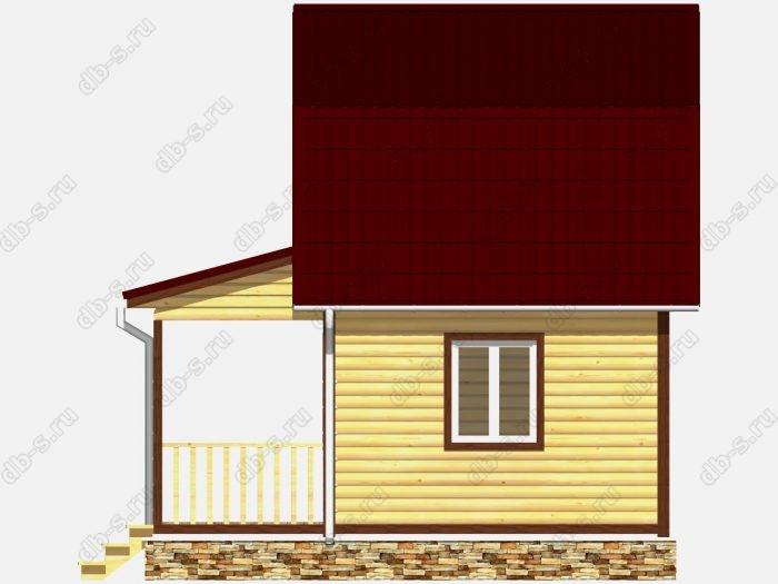 Дом из бруса 6х6 терраса (веранда) ломаная крыша вальмовая крыша