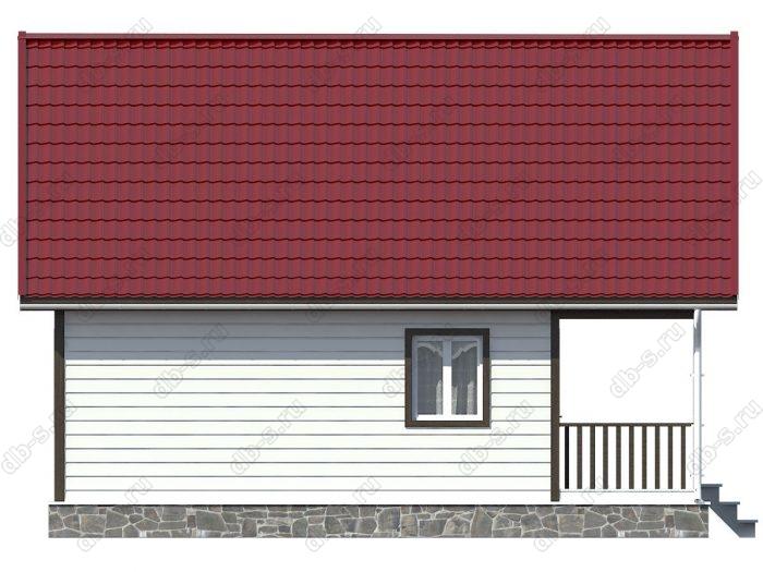 Каркасный дом 7х9 терраса (веранда) двухскатная крыша