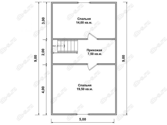 Дом 7 на 9 план мансардного этажа