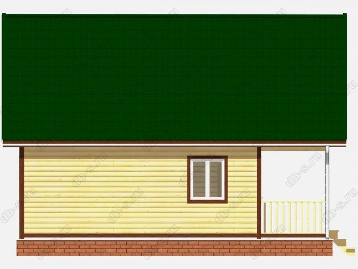 Дом из бруса 7х9 терраса (веранда) двухскатная крыша