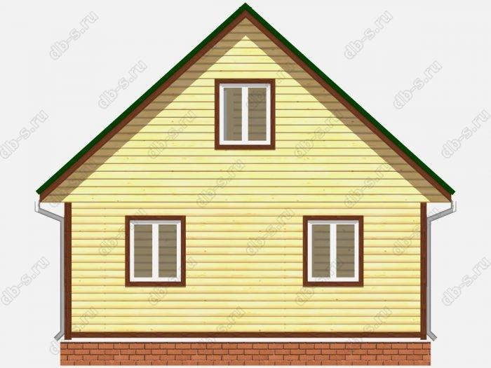 Проект дома из бруса площадью 94кв.м.