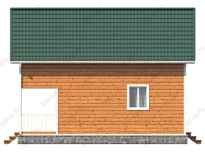 Каркасный дом 7х9 терраса (веранда) балкон двухскатная крыша