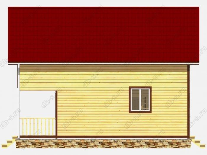 Дом из бруса 7х9 терраса (веранда) балкон двухскатная крыша