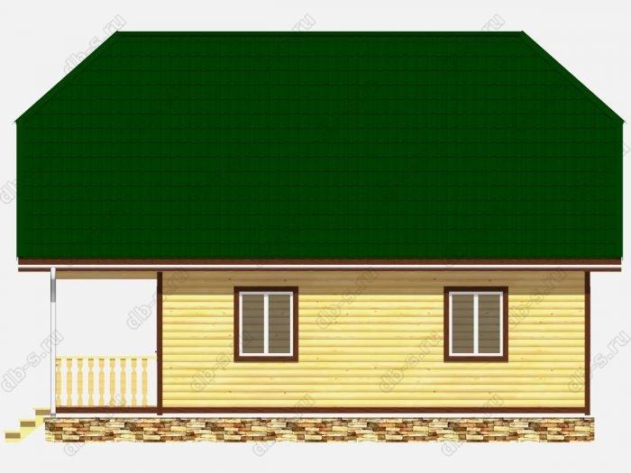 Дом из бруса 8х10 терраса (веранда) двухскатная крыша