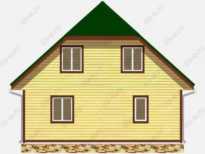 Проект дома из бруса площадью 114кв.м.