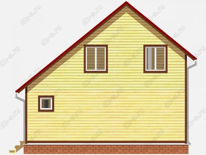 Проект дома из бруса площадью 81кв.м.