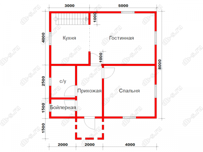 Строительство двухэтажного дома из бруса 8 на 8 Сосновый Бор, Ленинградская область фото 21