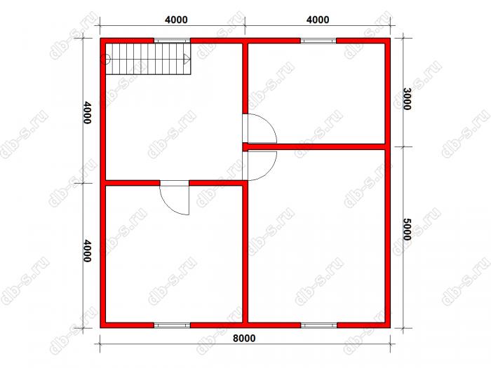 Строительство двухэтажного дома из бруса 8 на 8 Сосновый Бор, Ленинградская область фото 22