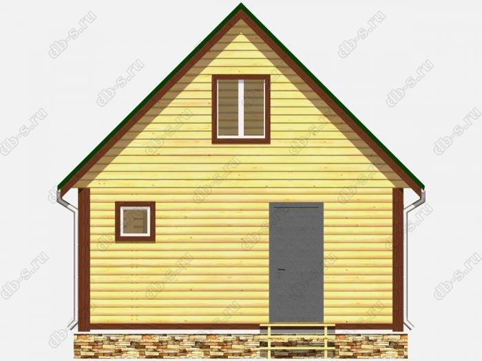 Фото деревянной бани из бруса 6 на 4
