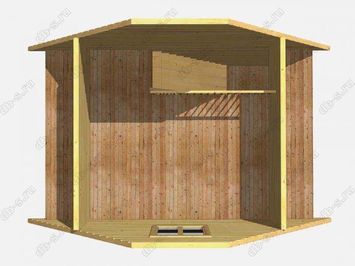 Проект деревянной бани 6х4 из профилированного бруса