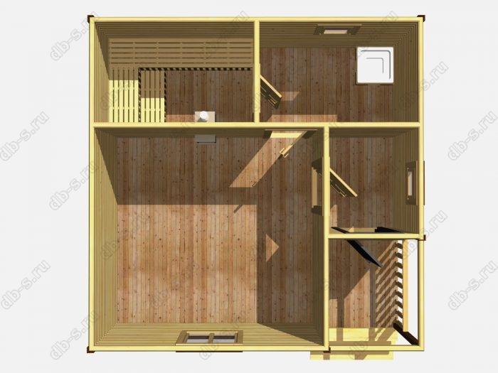 Одноэтажная деревянная бани под ключ 6 на 6