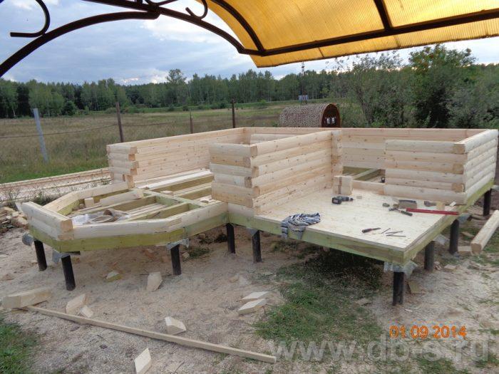 Строительство дома из бруса с мансардой 6 на 6 Подольск, Московская область фото 2
