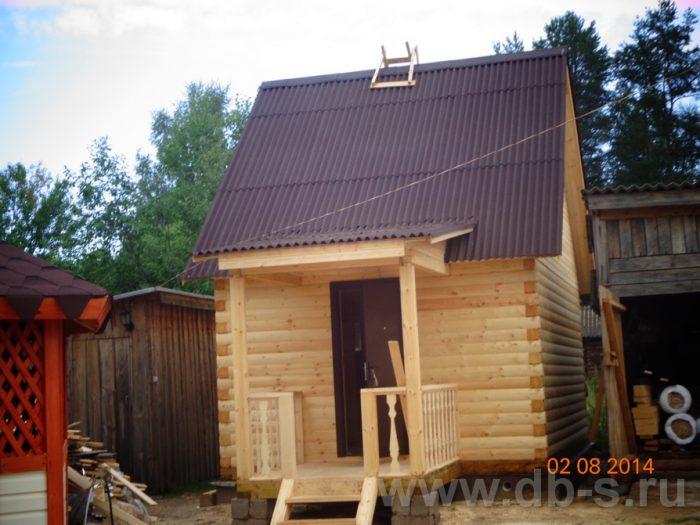 Строительство бани из бруса с мансардой 6 на 4 Мытищи, Московская область фото 1