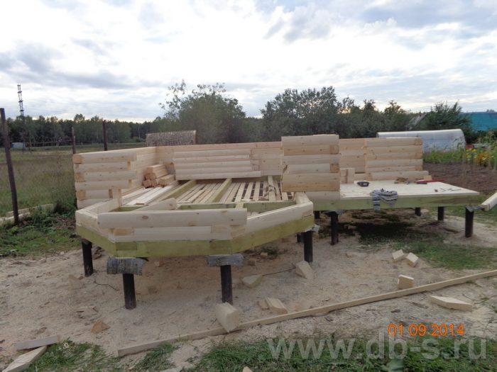 Строительство дома из бруса с мансардой 6 на 6 Подольск, Московская область фото 3