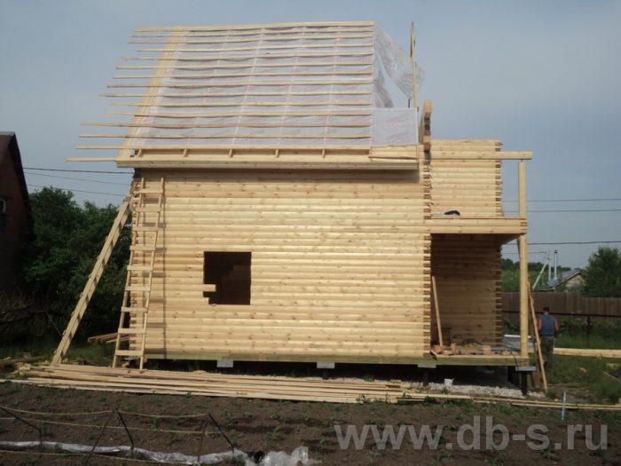 Строительство двухэтажного дома из бруса 8 на 8 Коломна, Московская область фото 3